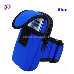 2015 Hot selling neoprene sport arm bag neoprene sports mobile phone case