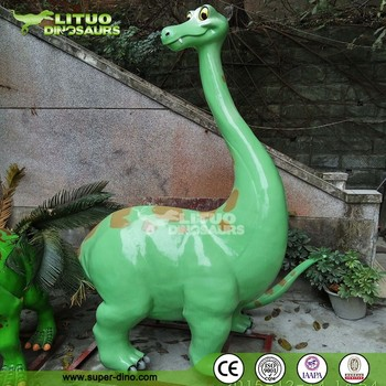 Playground FRP Attraction Cartoon Dinosaur Statue