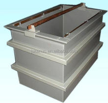 PP/PVC material anodizing tank bath with plating rectifier for chemicals and water storage