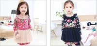 Girls Frock Designs With Latest 2015 Year Floral Print Dresses Girl Clothes 4 Years For Birthday