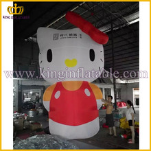 Guangzhou Factory Hot Sale Cheap Inflatable Hello Kitty, Giant Inflatable Cartoon Character