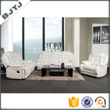 BJTJ Top sale recliner modern genuine pu leather sectional sofa 70560