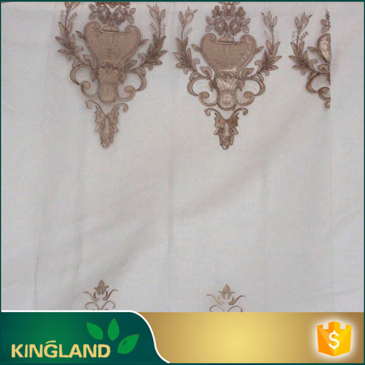 High quality Arabic Style Decorative Jacquard curtain fabric blackout