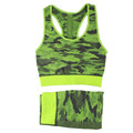 Camouflage pattern fitness sport wear yoga clothes set