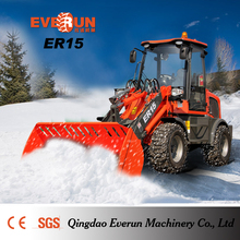 Qingdao Everun Brand New 1.5Ton Snow Bucket Front Wheel Loader For Sale