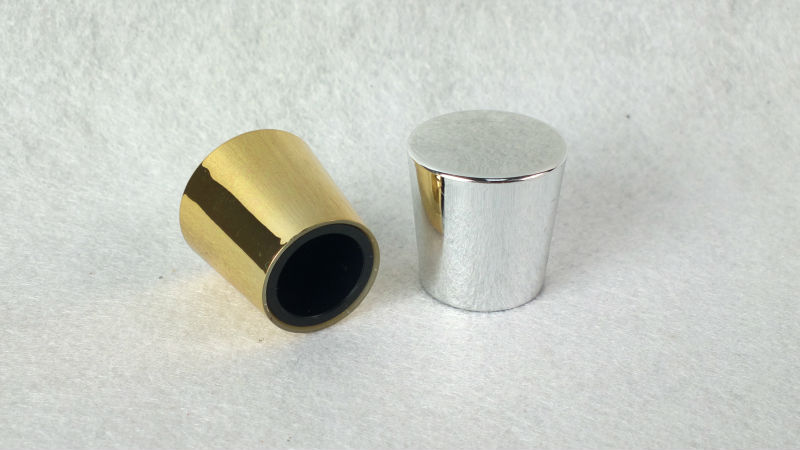 Silver Gold Colored Aluminium Caps For Glass Bottles