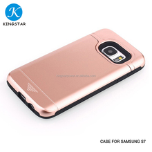 Free Sample Protective Colorful Card Slot Frame Mobile Cell Phone Case For Samsung Galaxy S7