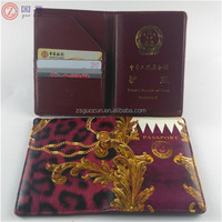 Custom Design Leather Printed Passport Holder Case
