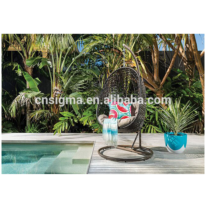 Sigma swimming pool furniture patio hanging swing outdoor chair