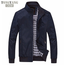 TONGYANG Solid color New 2018 Casual Jacket M-5XL 6XL Men Spring Autumn Outerwear Mandarin Collar Clothing