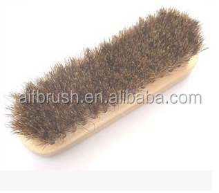 horse hair deck brush with wooden handle