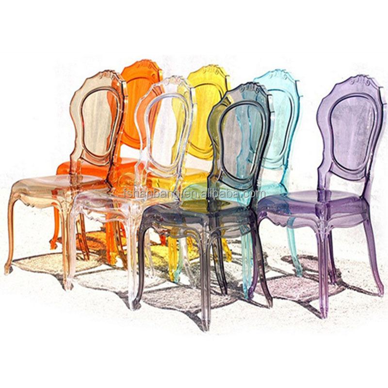 Guangzhou fabricants de chaises color cristal blanc for Tendance chaise 2017