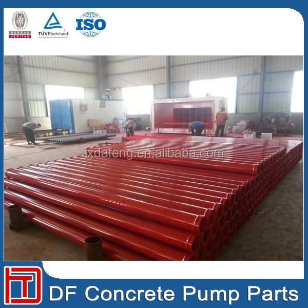 Carbon Steel Pipe Line Twin Wall Concrete Pump Pipe
