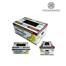 Custom Corrugated Carton Packaging Assorted Banana Fruit Display Box