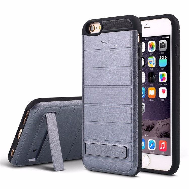 wholesale slide cover card slot holder case for iphone 6 , kickstand phone case for iphone 6 plus