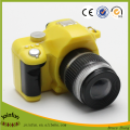 custom make plastic toy camera with led light, sound making plastic toy camera