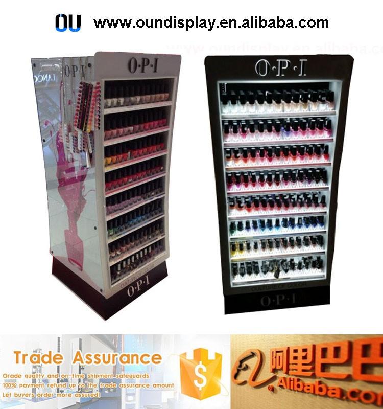 Countertop Essie Nail Polish Cosmetic Display Custom Acrylic Opi Rack