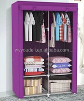 assembly16mm tube breathable cloth closet, folding 600D wardrobe closet design