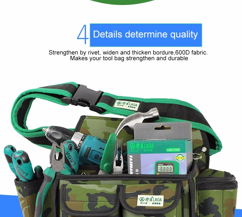 Durable 600D thickening Oxford Material camouflage tool bags