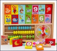 Customized top sell alphabet blocks wooden educational toy