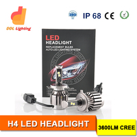 40W 3600LM crees Car HB4 9006 Led Car Headlight Auto Headlight Bulb H1 H3 H7 H4 HB3 HB4 H11
