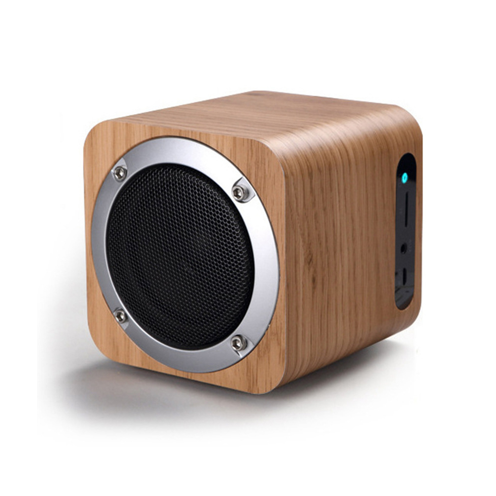 Mini Wooden TF Card FM Radio Wireless Wood Mobile <strong>Speaker</strong>