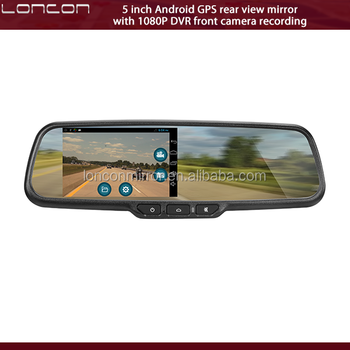 5 inch Android WIFI google store rear view mirror monitor with DVR recorder