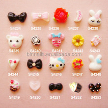 Candy Color Bows Ties 3D Nail Art Resins Nail