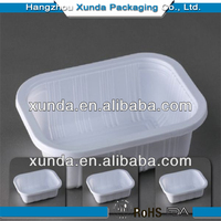 Disposable plastic food packing box