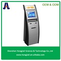 LCD information touch screen kiosk internet information kiosk Floor Standing Magnetic Card Scanner Self Payment Kiosk