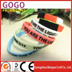 Factory Directly Customized Fshion Silicone Wristband Printed Logo Silicone Bracelet, Hot Sales Cool Silicone Event Wristband
