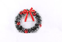 10 inch plastic christmas wreaths with red bow
