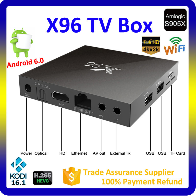 Amazon fire stick X96 Amlogic S905X Quad Core Android 6.0 Smart Android Tv box