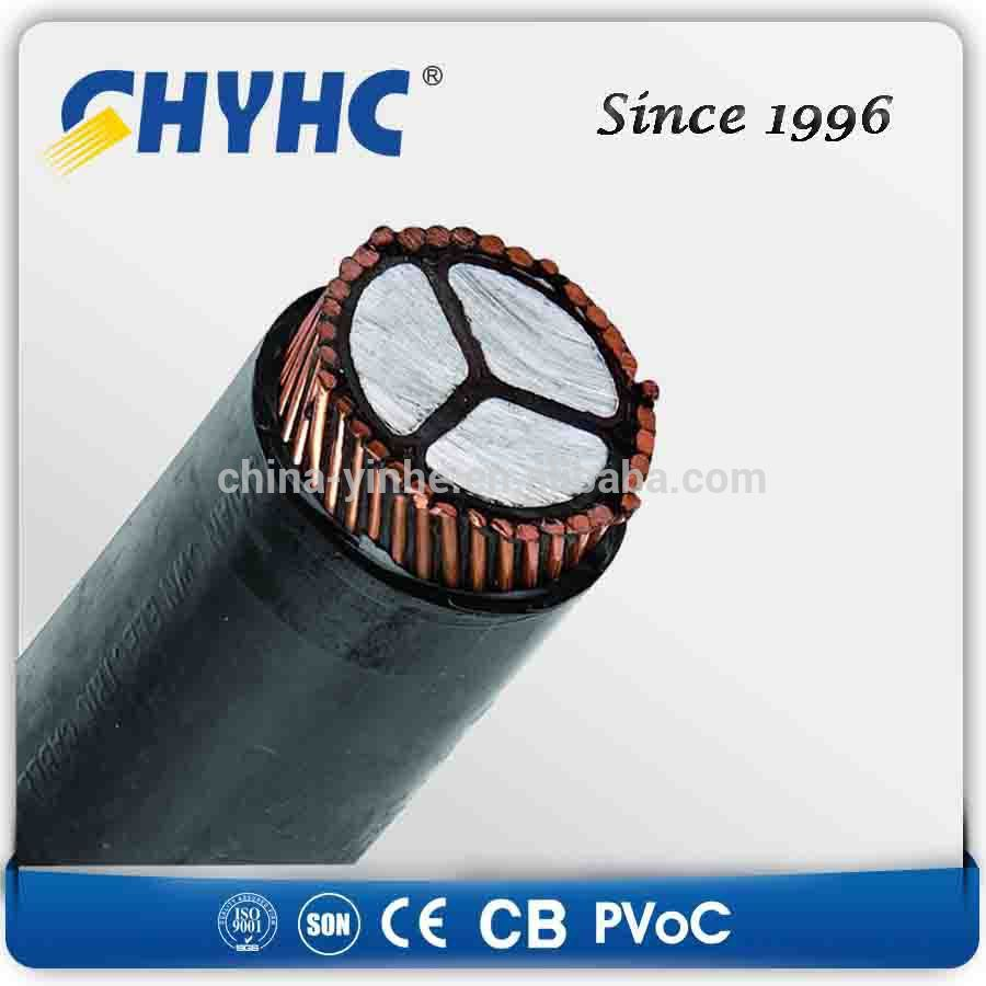 1core 3core 1900/3300V PVC Insulated Sheathed, Aluminum Wire Armoured LV high tension underground cable