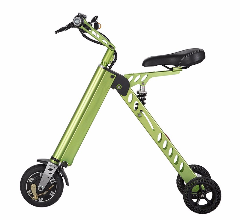 Best selling 8inch folding 3 wheel electric tricycles electric scooter with seat