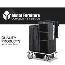 Corner Bumpers Laundry Industrial Housekeeping Cleaning Trolley