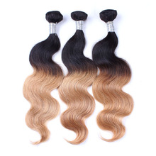 Factory Supply Good Texture Lies Free Two Toned Body Wave Human Hair