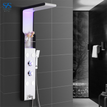 Discount Computerized Thermostatic LED Shower Panel With Faucet