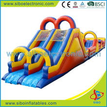 GMIF5401 outdoor inflatable obstacle course with slide for kids amusement in game center