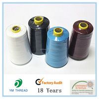 100% spun polyester sewing lines for clothes