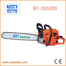 chain saw wood hand cutting machine gasoline chain saw 5200 52 cc chain saw machine price