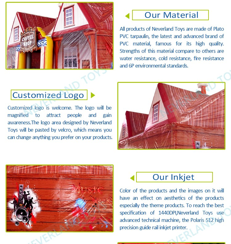Hot Sale NEVERLAND TOYS High Quality Customize Funny Coffee Shop Price For Sale Inflatable Bubble Tent House