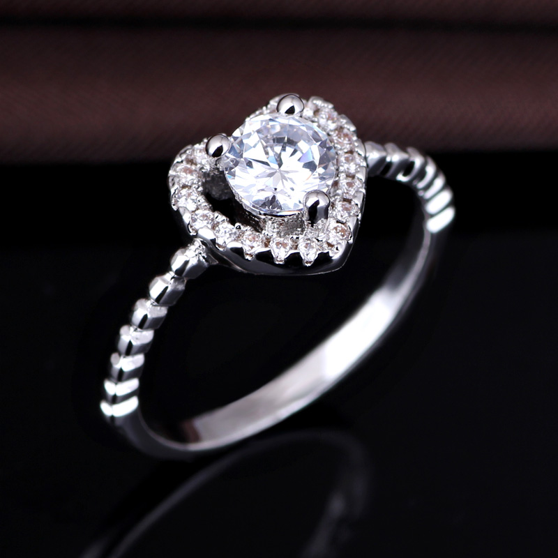 Latest 925 sterling silver AAA zircon antique style fashion jewelery ring