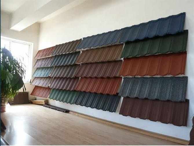 2016 new roman design low price villa building material stone coated metal roof tile/nigeria building roof material