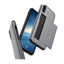 Cellphone Shockproof covers for iphone x,credit card for iphone x case slide, 2 in 1 card holder phone case for iphone x