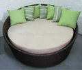 SGW-14053C Latest designs round shape wicker day bed