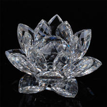 Cheap Prices new trendy style home decoration beautiful crystal lotus