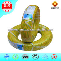 IEC 4mm2 Heating Resistance fiberglass braid Silicone Rubber Insulation Electric Wire and Cable