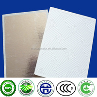 types of false ceiling board gypsum material/595*595*7mm/603*603*8mm
