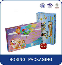 Lovely toy paper packaging boxes for barbie dolls